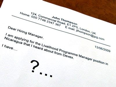 Cover letter for producer position